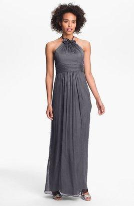Amsale Silk Halter Gown