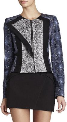 BCBGMAXAZRIA Edward Print-Blocked Jacket
