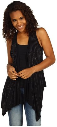 Rock and Roll Cowgirl - Sleeveless Knit Vest (Black) - Apparel