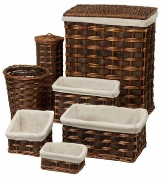 Honey-Can-Do 7-Piece Wicker Hamper & Bath Set