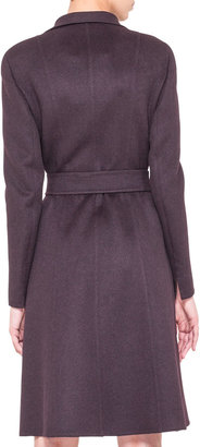 Akris Wool Angora Belted A-Line Coat