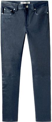 Acne Studios / Skin 5 Dusty Blue Leather Pants