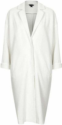 Topshop Textured long line duster coat