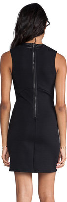 Eight Sixty Leather Detail Dress