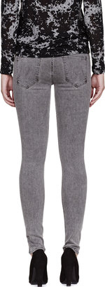 Mother Grey The Muse Straight Skinny Jeans