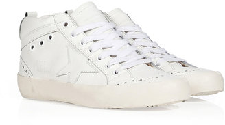 Golden Goose Leather Mid Star Sneakers