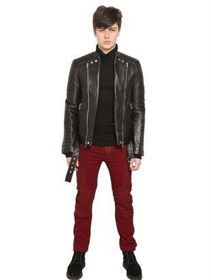 Balmain Leather Bomber Jacket