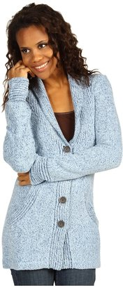 Exofficio Vona Cardigan (Frost/ Ensign) - Apparel