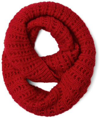 Chill in the Air Circle Scarf in Red