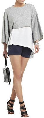 BCBGMAXAZRIA Kerey Kimono-Sleeve Cropped Top