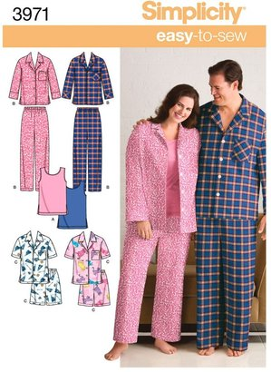 Simplicity Easy to Sew Plus Size Nightwear Dressmaking Leaflet, 3971
