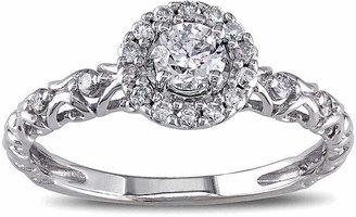 MODERN BRIDE 1/2 CT. T.W. Diamond 14K White Gold Filigree Ring
