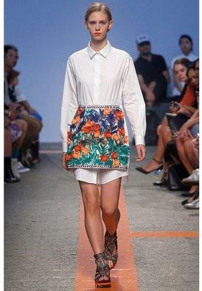 MSGM Embellished Cotton Poplin&ottoman Dress