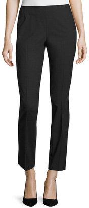 Lafayette 148 New York Stanton Full-Length Stretch-Wool Pants