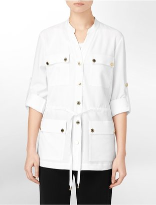 Calvin Klein Safari Style Shirt Jacket