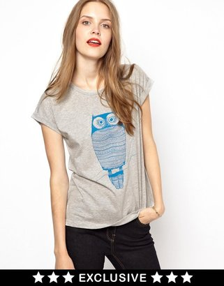 NW3 by Hobbs Exclusive to ASOS Owl T-Shirt