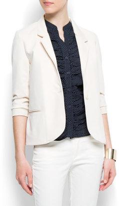 MANGO Single button closure blazer