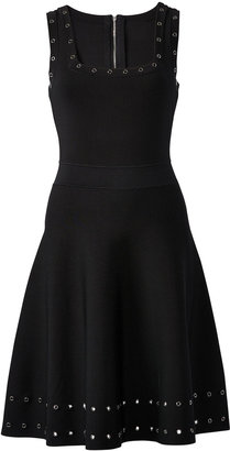 Milly Sleeveless Grommet Tiered Dress
