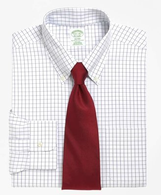 Brooks Brothers Milano Slim-Fit Dress Shirt, Non-Iron Windowpane