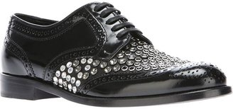 Dolce & Gabbana crystal studded brogues