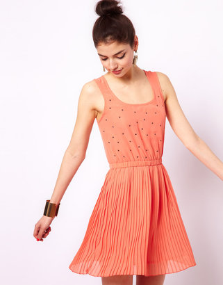 House of Dereon Studded Dress
