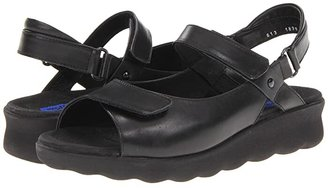 Wolky Pichu (Black Leather) Women's Sandals