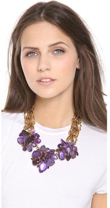 Erickson Beamon Aerin Leaf & Stone Necklace