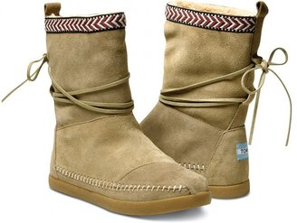 Toms Sand suede trim women's nepal boots