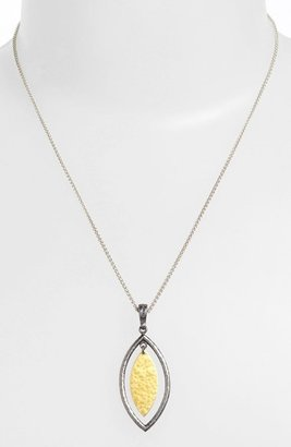 Gurhan 'Willow' Blackened Silver & Gold Pendant Necklace