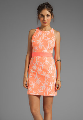 Milly Neon Jacquard Sonya Sheath Dress