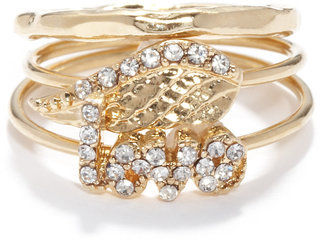 Rachel Roy Midi Love Wing Ring