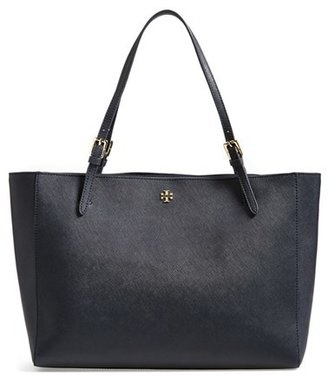 Tory Burch 'York' Buckle Tote - Blue $295 thestylecure.com
