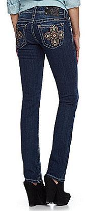 Miss Me Jeans Paisley Cross Straight-Leg Jeans