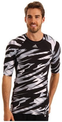 adidas techfit Compression Short-Sleeve Tee - Camo (White/Clear Grey/Tech Grey/Black) - Apparel