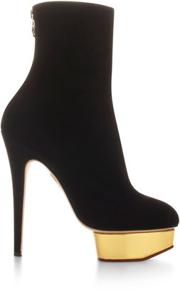 Charlotte Olympia Lucinda Suede Platform Ankle Boots