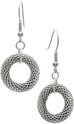 Jokara Round Mesh Hoop Earrings