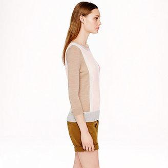 J.Crew Merino wool texture-panel sweater