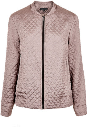 Topshop Tall Quilted Bomber Jacket