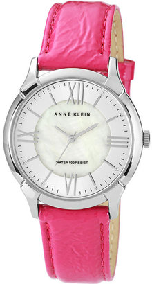 AK Anne Klein Roman Numeral Patent Leather Watch