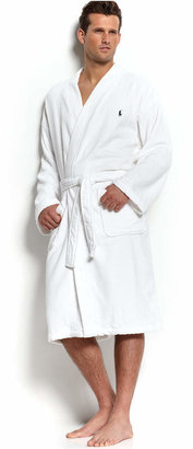 Polo Ralph Lauren Men's Sleepwear, Soft Cotton Kimono Velour Robe $90 thestylecure.com