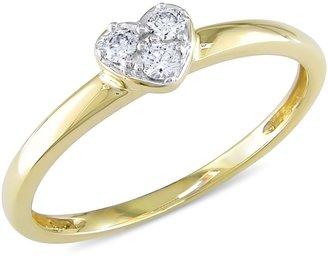 Ice.com 1/10 Carat Diamond 14K Yellow Gold Heart Ring I1