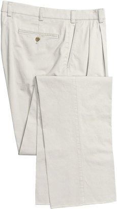 Hiltl Nano Bionic Giza Pants - Stretch Cotton, Double-Reverse Pleats (For Men)