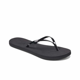 Reef Women's Sandals Bliss | Faux Patent Leather Flip Flops for Women with Soft Cushion Footbed | Waterproof