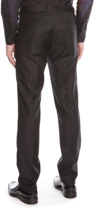 Givenchy Stretch-Wool Suit Trousers, Black