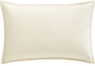 Crate & Barrel Buckley White Pillow with Feather-Down Insert.