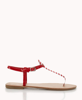 Forever 21 Striped Thong Sandals