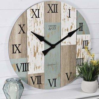 FirsTime Oversized Timberworks Wall Clock (