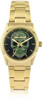 Zadig & Voltaire TDM - Golden Steel Skull Watch