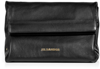Jil Sander Black Fold Over Clutch