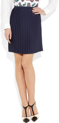 J.W.Anderson Pleated mohair-blend mini wrap skirt